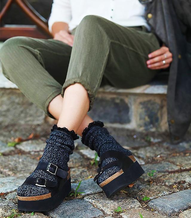 Free People Heathered Highland Boots Socks