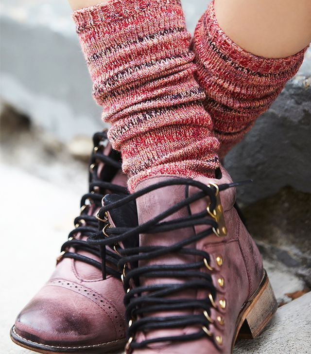Free People Summit Stripe Tall Socks