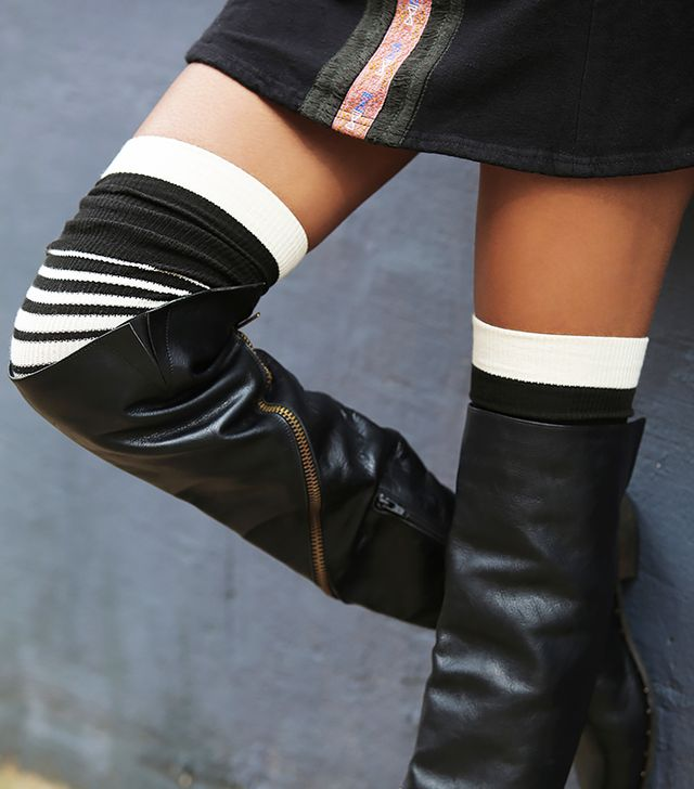 Free People Switch Top Over the Knee Socks