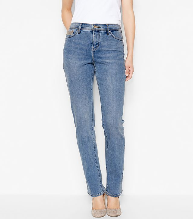 Levi's Perfectly Slimming Straight Jeans in Western Light