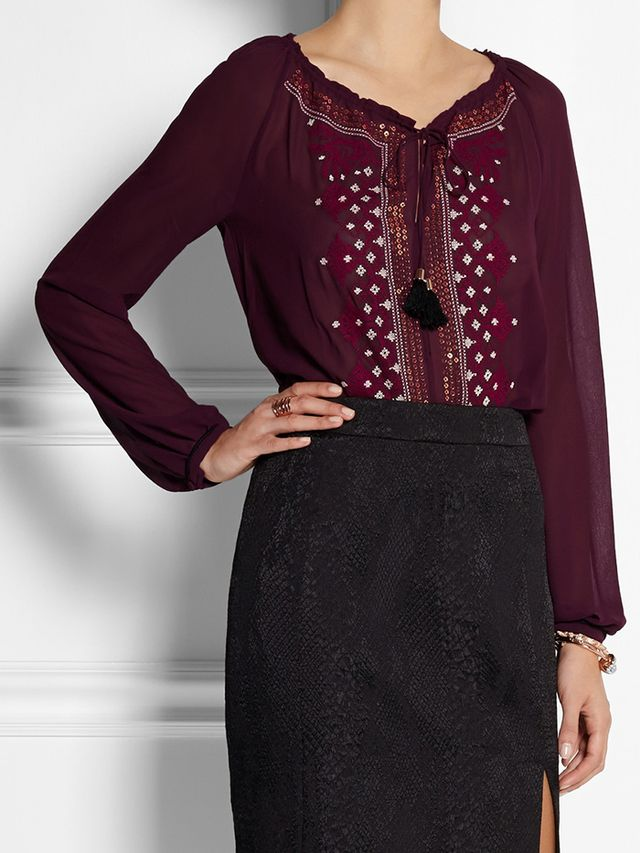 Altuzarra for Target Embellished Georgette Top