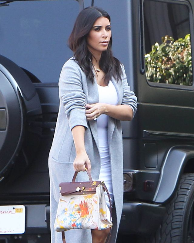 Finally! See the Hermès Bag North West Painted for Kim Kardashian