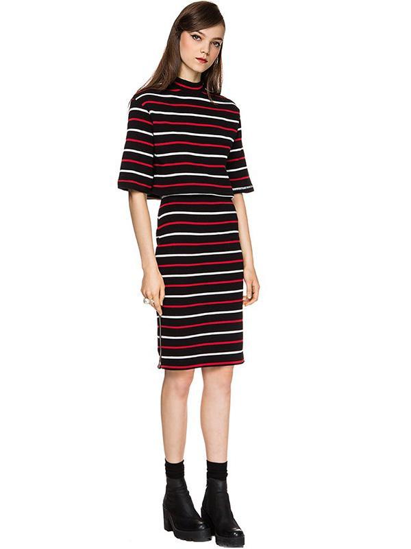 Pixie Market Chloe Stripe Two Piece Dress
