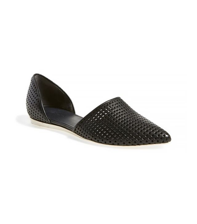 Vince Vince Nina 2 Perforated Leather D'Orsay Flat