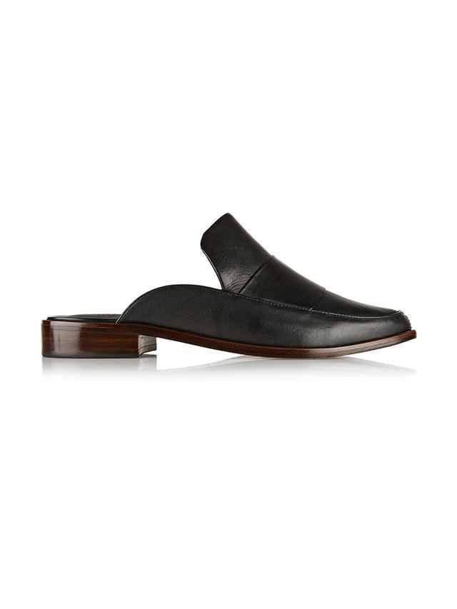 Tibi Denni Leather Mules
