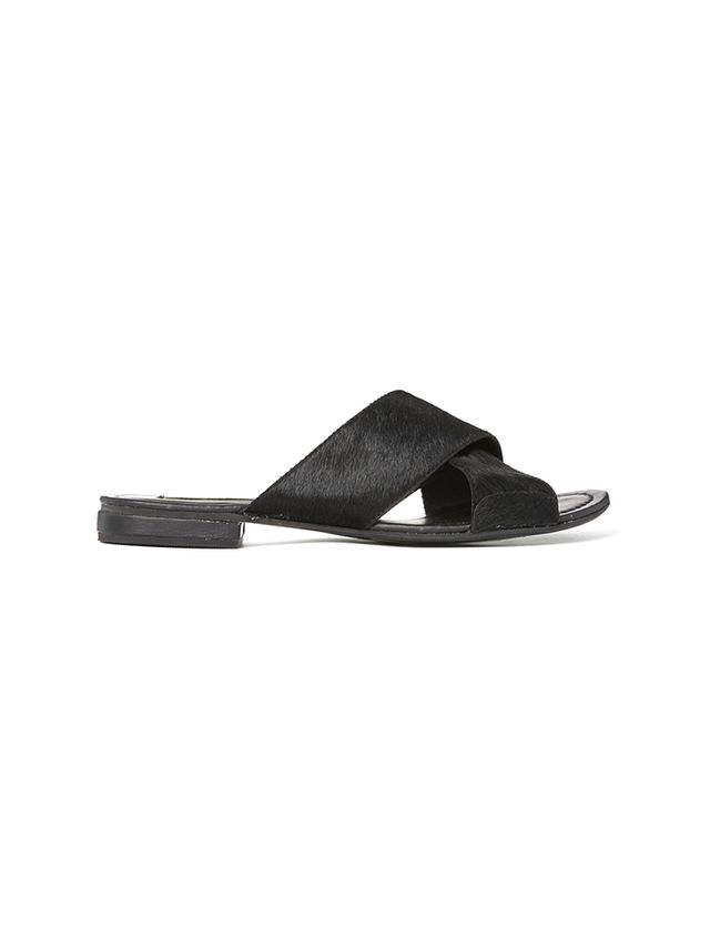 Park Lane Cross Strap Slide Flat Sandals