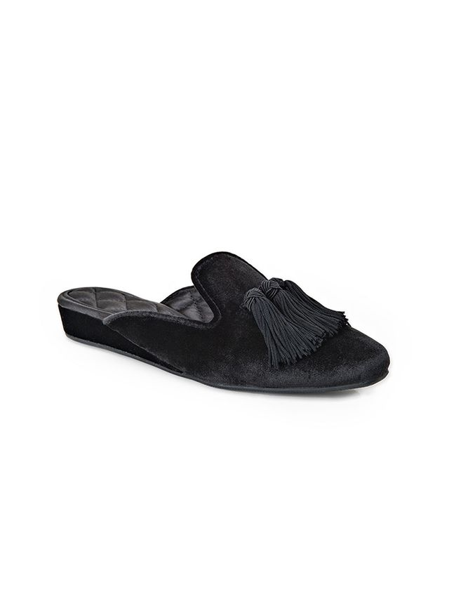 Luxe Me Now Fringe With Benefits Leather Slippers