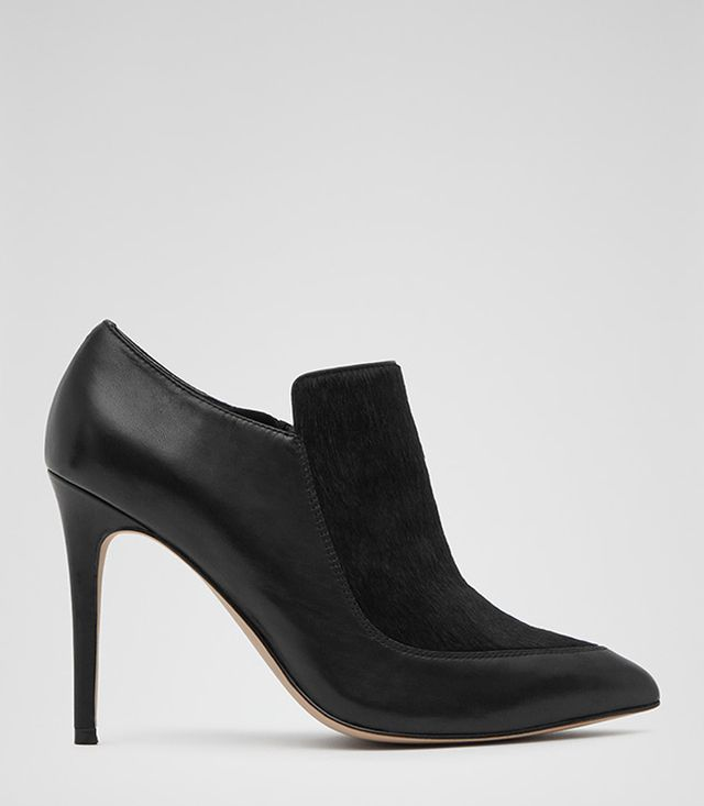 Reiss Kalie Textured Ankle Boots