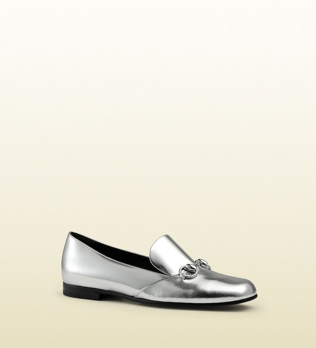 Gucci Metallic Leather Horsebit Loafer