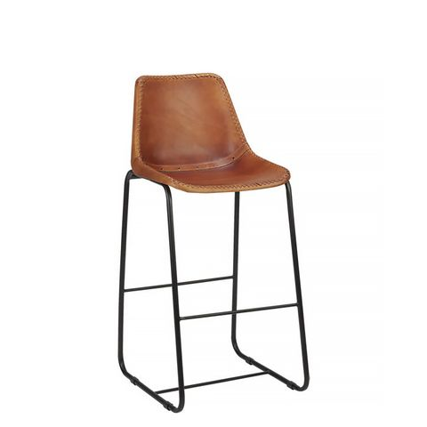 Roadhouse Leather Barstool
