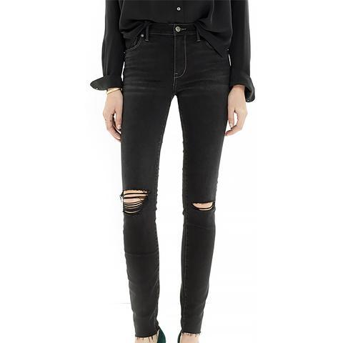 High Riser Skinny Skinny Cut-Edge Jeans