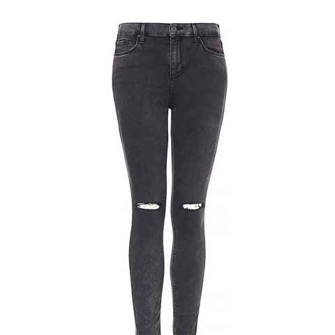 Mottle Black Ripped Leigh Jeans