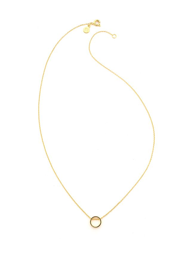 Gorjana Cyra Circle Necklace