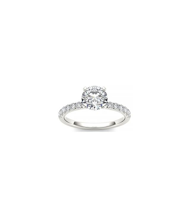 De Couer 14k White Gold 3/4ct TDW Diamond Solitaire Engagement Ring