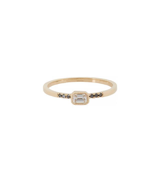 Jennie Kwon Diamond & Gold Equilibrium Ring