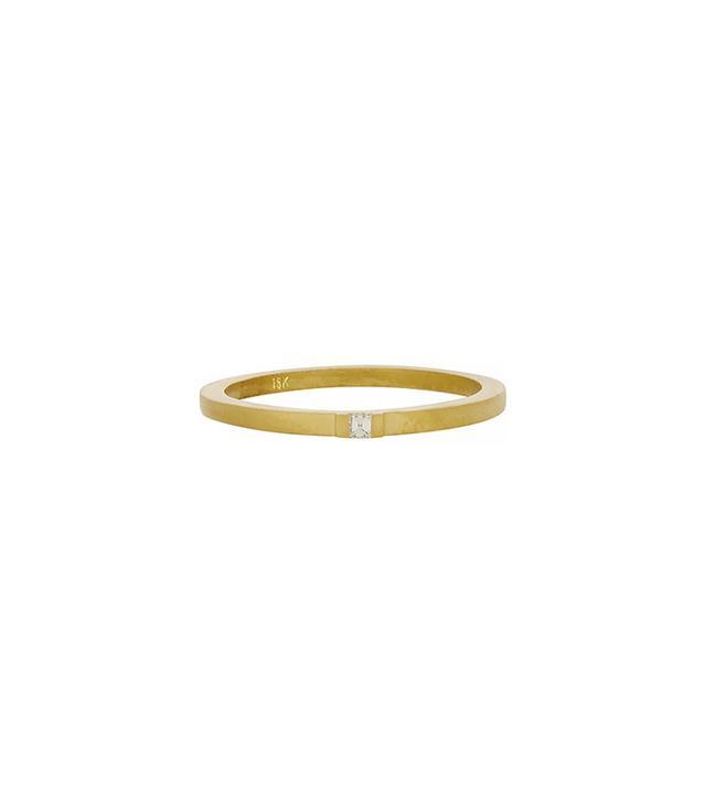 Tate Diamond & Gold Thin Band Ring