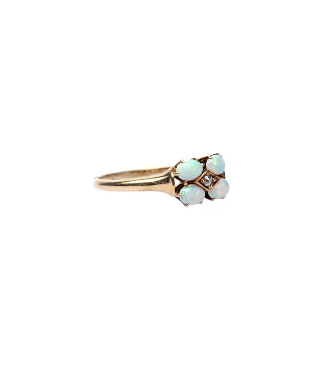 Trumpet & Horn Lovely Victorian Opal Diamond Ring