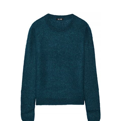 21 Cropped Mohair-Blend Sweater