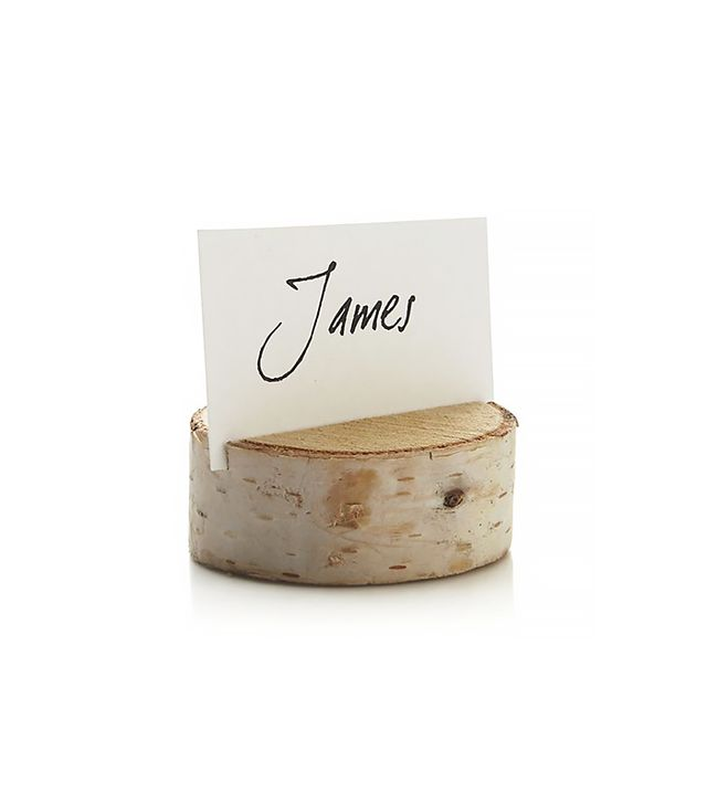 Crate & Barrel Stump Placecard Holder