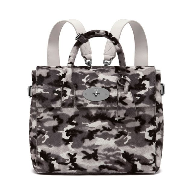 Mulberry Cara Delevingne Bag Black & White Camouflage Haircalf