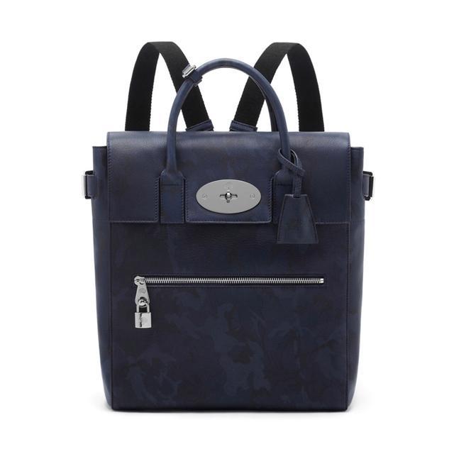 Mulberry Large Cara Delevingne Bag Blue Camo Printed Goat
