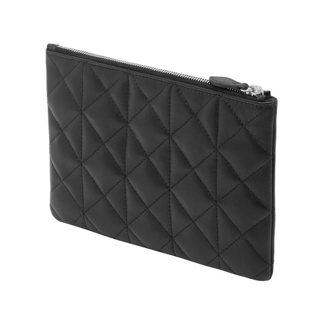 Mulberry Cara Delevingne Small Pouch Black Quilted Nappa