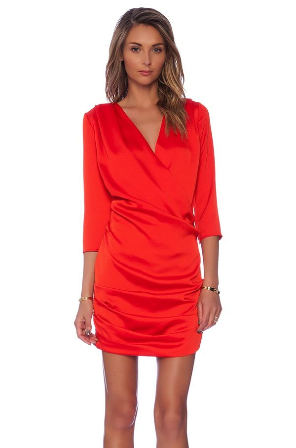 Line & Dot Gianni Ruched Mini Dress