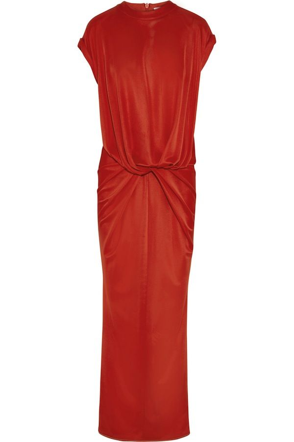 Givenchy Twist-front gown in red stretch-jersey