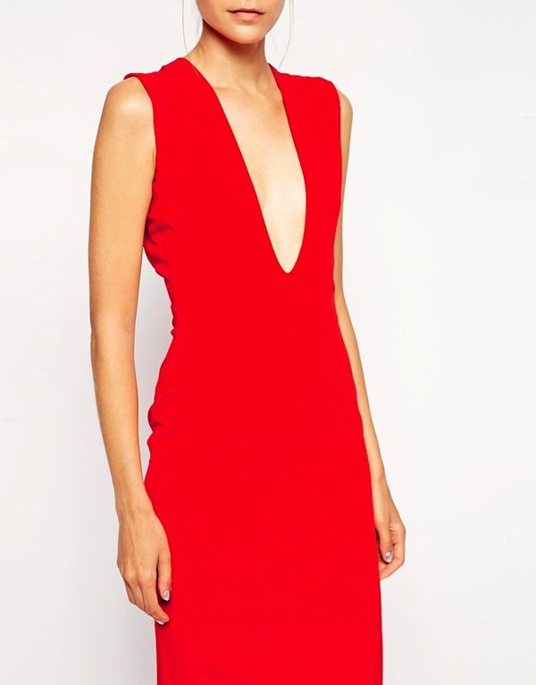 Solace London Aretha Maxi Dress With Plunge Neck and Back