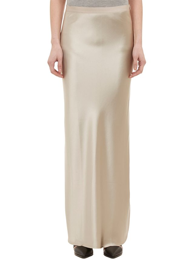 Nili Lotan Silk Charmeuse Long Skirt