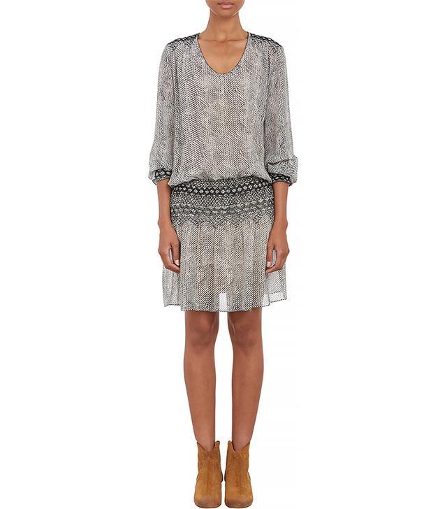 Ulla Johnson Rope-Print Silk Anika Dress
