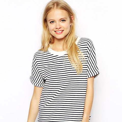 Jack Wills Striped Short Sleeve Sweat Top