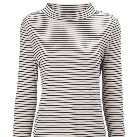 Two Tone Funnel Neck T-Shirt