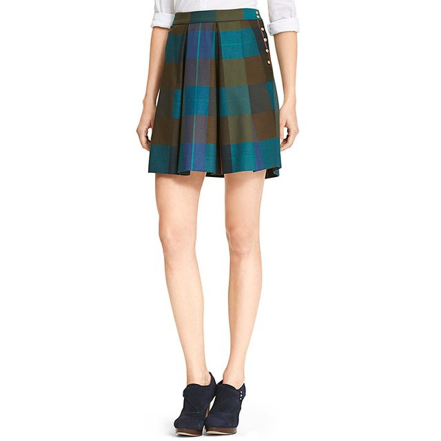 Tommy Hilfiger Colorblock Plaid Skirt