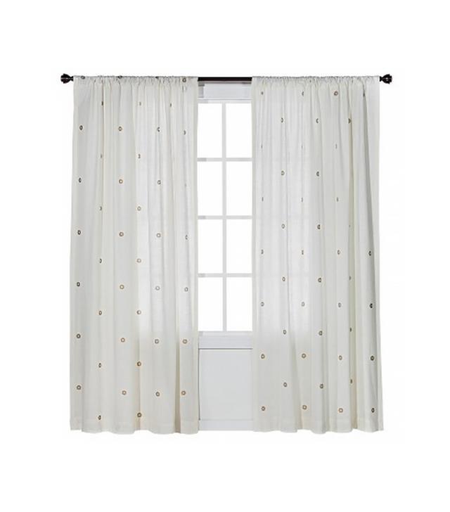 Target Nate Berkus Metallic Curtain Panel