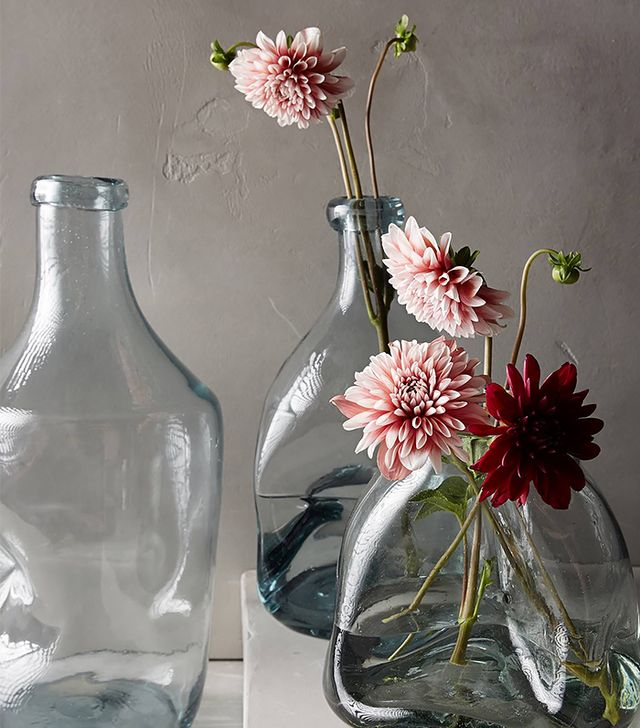 Anthropologie Pinched Glass Vase