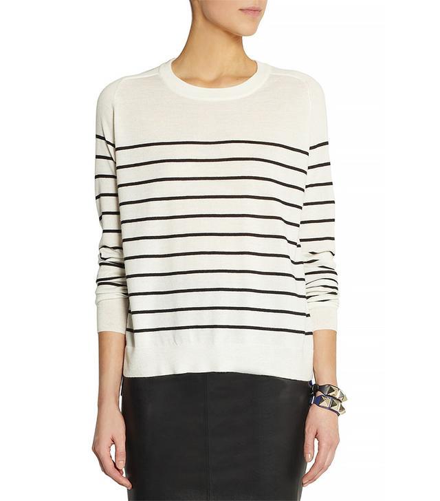 Mason by Michelle Mason Silk Crepe-Paneled Cashmere Sweater