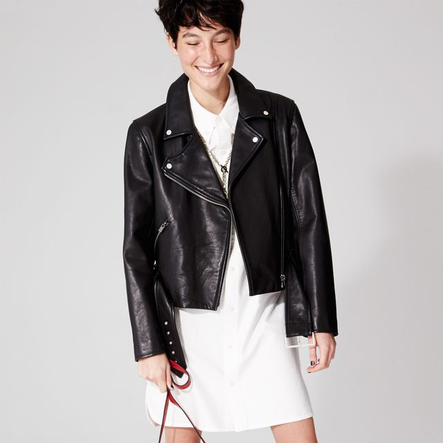 Kate Spade Saturday Leather Moto Jacket