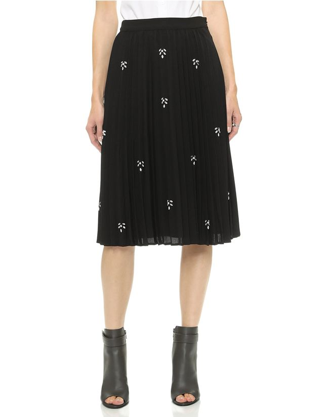 JOA Embellished Pleats Skirt