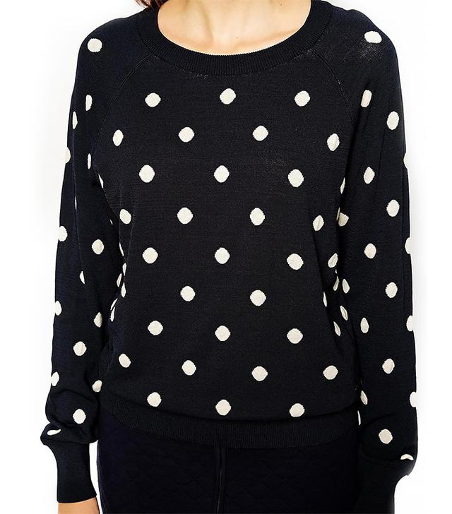 BZR Sweater in Polka Dot Print