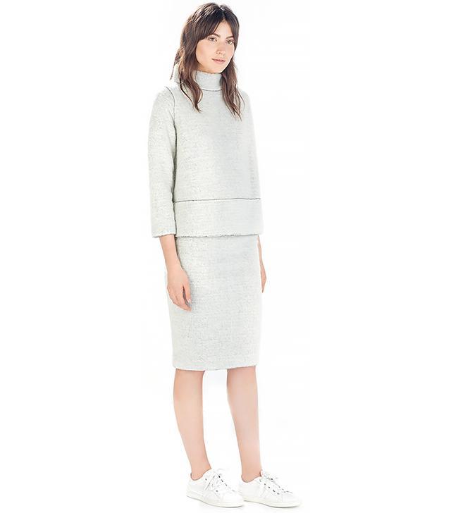 Zara High Neck Sweater and Tube Skirt