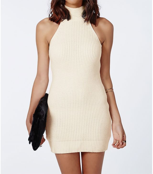 Missguided Alarna Racer Neck Knitted Dress