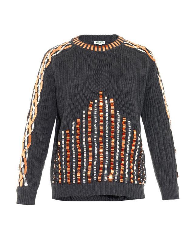 Kenzo Embellished Wool Sweater