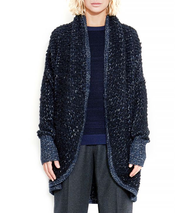 Theonne Maxwell Drape Front Cardigan Coat