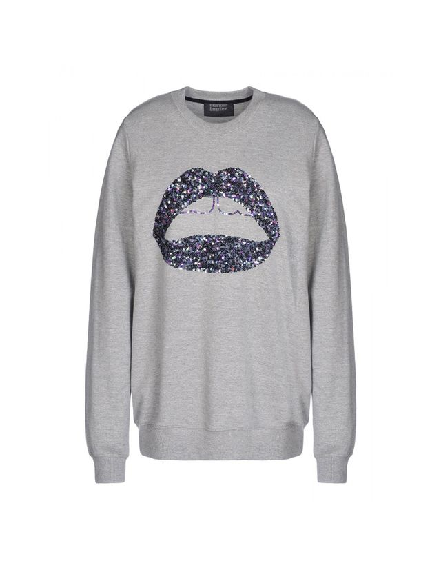 Markus Lupfer Sequin Lip Sweatshirt