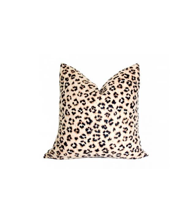Arianna Belle Leopard Linen Pillow