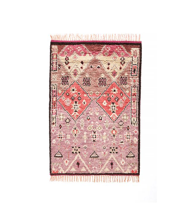Anthropologie Double Diamond Rug