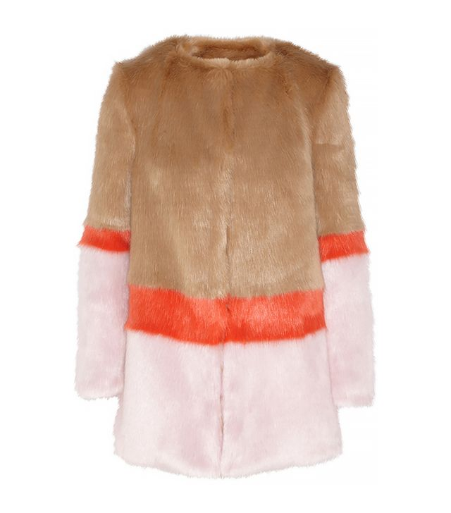 Shrimps Mabel Color-Block Faux Fur Coat