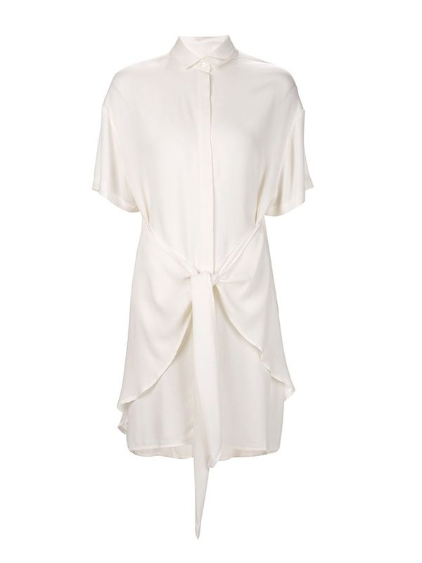 Shaina Mote Tied Waist Shirt Dress