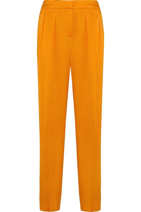 Maiyet Pleated Sateen Wide-Leg Pants